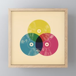 Music is the colors of life Framed Mini Art Print