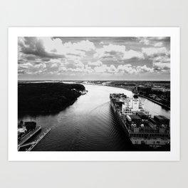 Savannah River Cargo Art Print