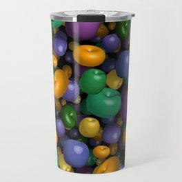 Mardi Gras Beads Travel Mug