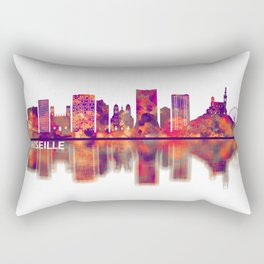 Marseille France Skyline Rectangular Pillow