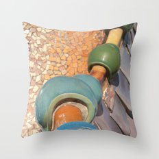 Gaudì roofs Throw Pillow