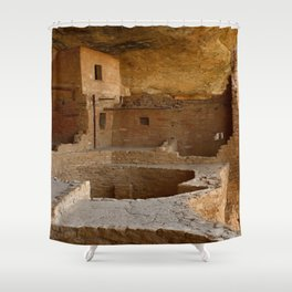 Balcony House View - Mesa Verde Shower Curtain