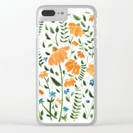 Flora Summer Breeze Clear iPhone Case