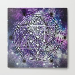 Sacred Geometry: Spirals Metal Print