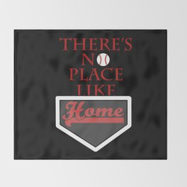 There's no place like home (baseball theme) Throw Blanket