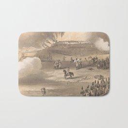 Vintage Battle of Bunker Hill Illustration (1875) Bath Mat