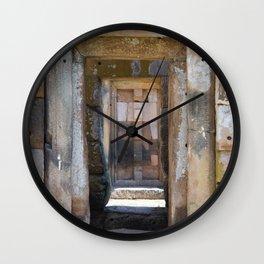 Ancient Doorway #4 Wall Clock