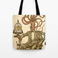 number Tote Bags featuring Haircut number 8 by Pepetto