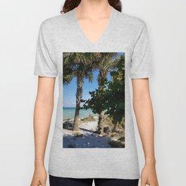 Ana Maria Island Palms Unisex V-Neck