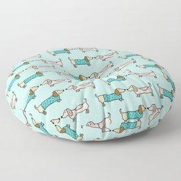 Cute dachshunds pattern Floor Pillow