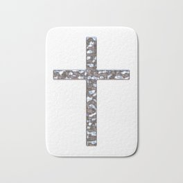 Chrome Crucifix Solid Bath Mat
