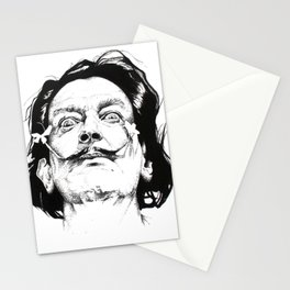 Salvador Dali Portrait Stationery Cards