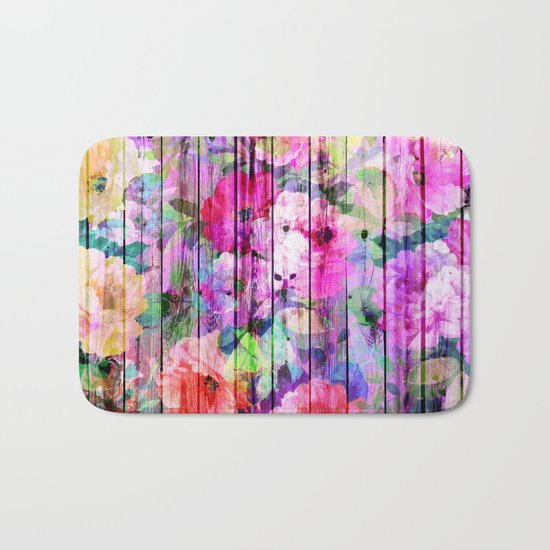 Flowers in the Wood Bath Mat