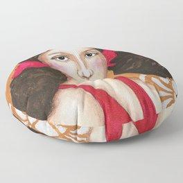 Isabel in Pink Mixed Media Floor Pillow