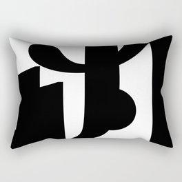 Hidden Letters. Baskerville J Rectangular Pillow