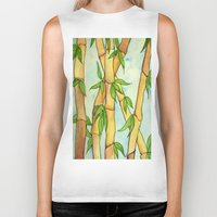 bamboo Biker Tanks featuring Bamboo by William Gushue