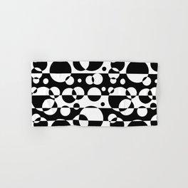 Black White Geometric Circle Abstract Modern Print Hand & Bath Towel
