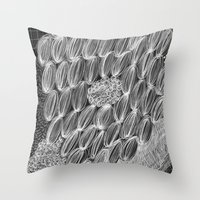 wild things Throw Pillows featuring Wild Things by Georgiana Paraschiv