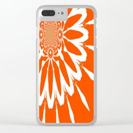 The Modern Flower Orange Clear iPhone Case