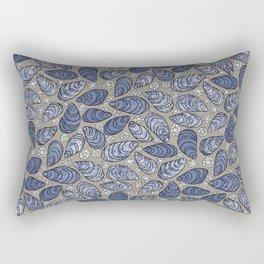 Blue Mussels Rectangular Pillow