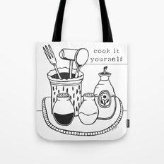 Cook it Yourself Folk Art Tote Bag