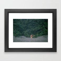 Blurry Greens Framed Art Print