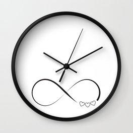 Infinity hearts symbol Wall Clock