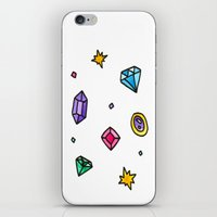 gem iPhone & iPod Skins featuring Gem by Madi Moon