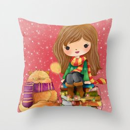 Magical Christmas/Hermione Throw Pillow