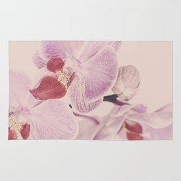 Matte Pink Orchid Flower Rug