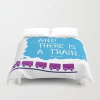 train Duvet Covers featuring TRAIN by Alberto Lamote de Grignon