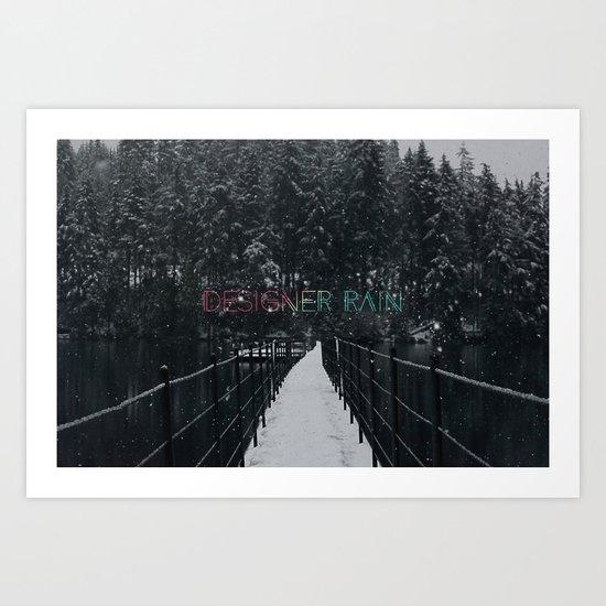 Designer Rain Art Print