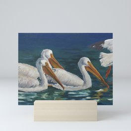 Pod of Pelicans Mini Art Print