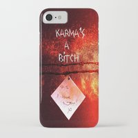karma iPhone & iPod Cases featuring Karma by Veronica Ventress