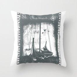 St Thomas Harbor Throw Pillow
