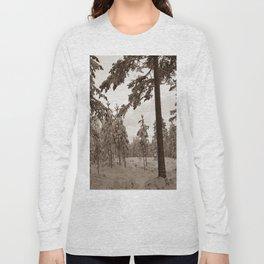 Winter Morning Sepia Long Sleeve T-shirt