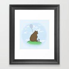 Cloudy the Bear Framed Art Print