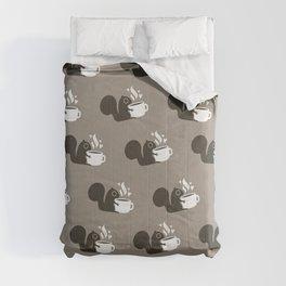 Squirrel Coffee Lover | Cute Woodland Animal Comforters