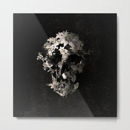 Spring Skull Monochrome Metal Print