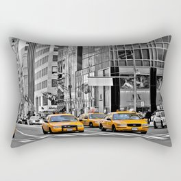NYC - Yellow Cabs - Police Car Rectangular Pillow