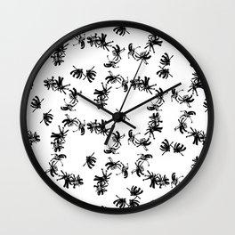 Ink Stroke: Black Floral II Wall Clock