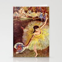 degas Stationery Cards featuring Dancer with Bouquet by PureVintageLove