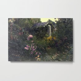 Summerhouse Flower Garden Metal Print