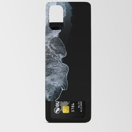 Waves on a black sand beach in iceland - minimalist Landscape Photography Android Card Case