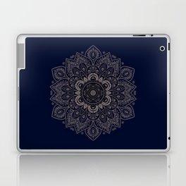 Temptation - Mandala 1 on Blue Backgound  Laptop & iPad Skin