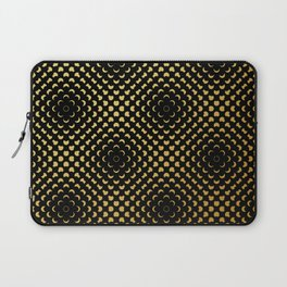 Black and gold pattern Laptop Sleeve