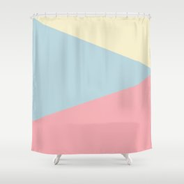 Modern geometric design pastel colors pink yellow blue Shower Curtain