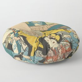 A long head Japanese person Ukiyo-e Floor Pillow