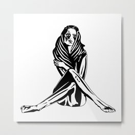 Woman with a tattoo Metal Print