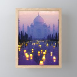 Temple Of The Oasis Framed Mini Art Print